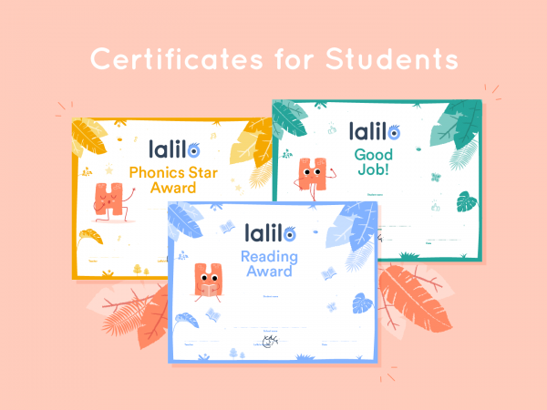 Lalilo Certificates for Students