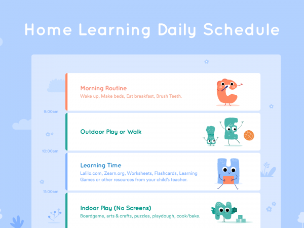 Lalilo's Distance Learning Daily Schedule