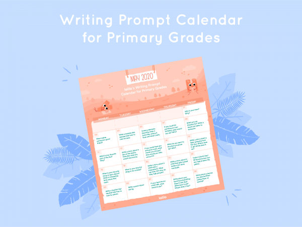 Lalilo May '20 Writing Prompt Calendar