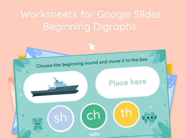 Beginning Digraphs Interactive Worksheets for Google Slides