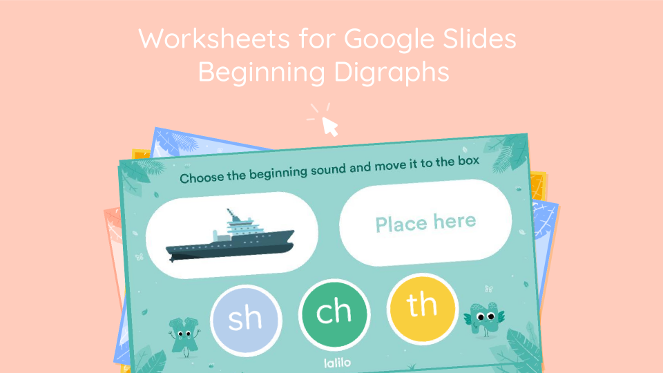 Beginning Digraphs Interactive Worksheets for Google Slides