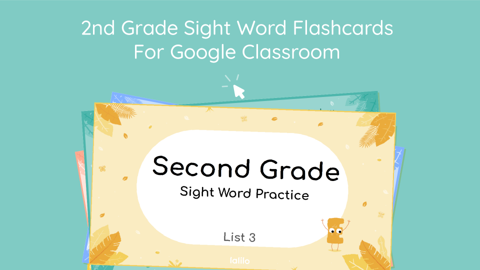 Second Grade Sight Word Flashcards for Google Classroom