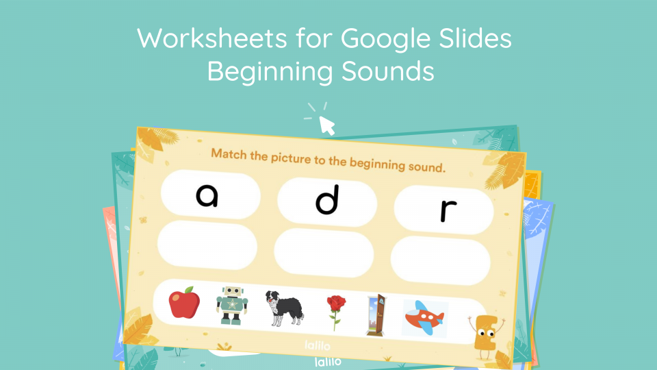 Beginning Sounds Interactive Worksheet for Goolge Slides