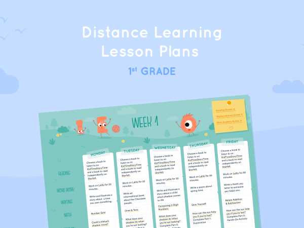 Distance Learning Lesson Plans for 1st Grade