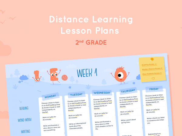 Distance Learning Lesson Plans for 2nd Grade