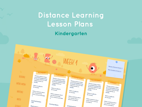 Distance Learning Lesson Plans for Kindergarten
