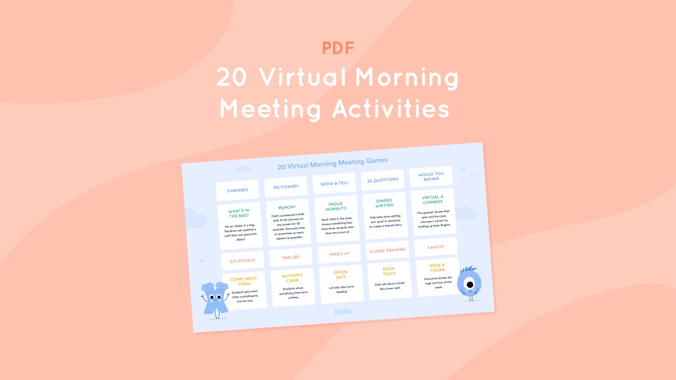 Zoom Activities for Virtual Morning Meetings
