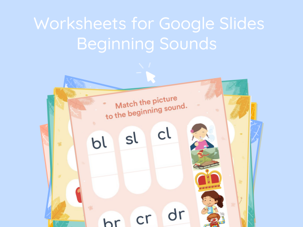 Beginning Blends Interactive Worksheet for Google Classroom