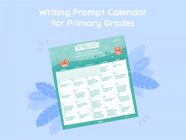 Lalilo October '20 Writing Prompt Calendar