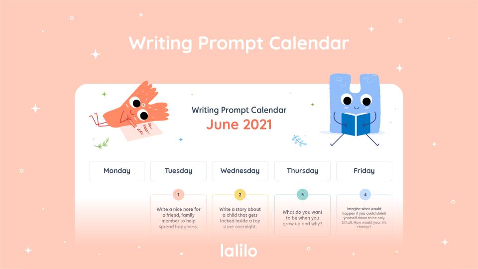 June '21 Writing Prompt Calendar