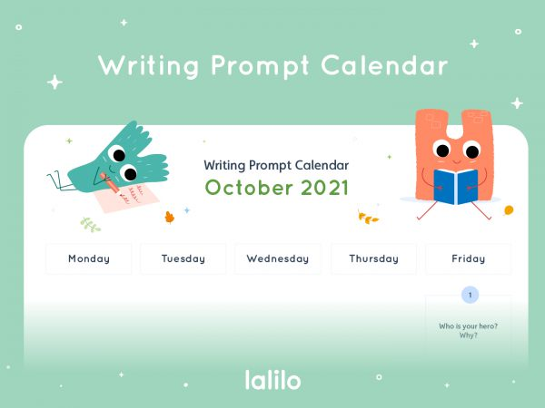 Lalilo October '21 Writing Prompt Calendar